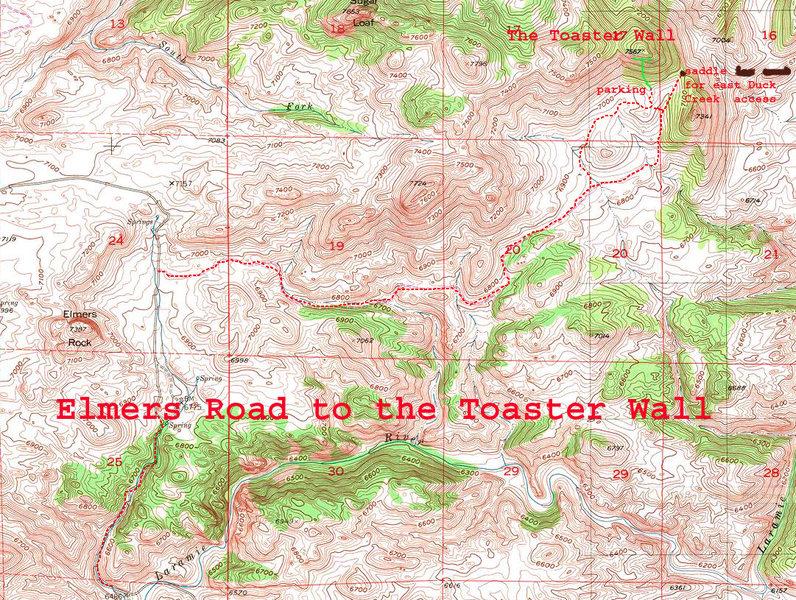 Rock Climbing Photo: East Duck Creek Canyon Access just past Toaster Wa...