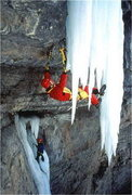 Rock Climbing Photo: Jeff Lowe on the first attempt of Octopussy.  Ph...