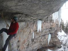 Rock Climbing Photo: Amazing position.