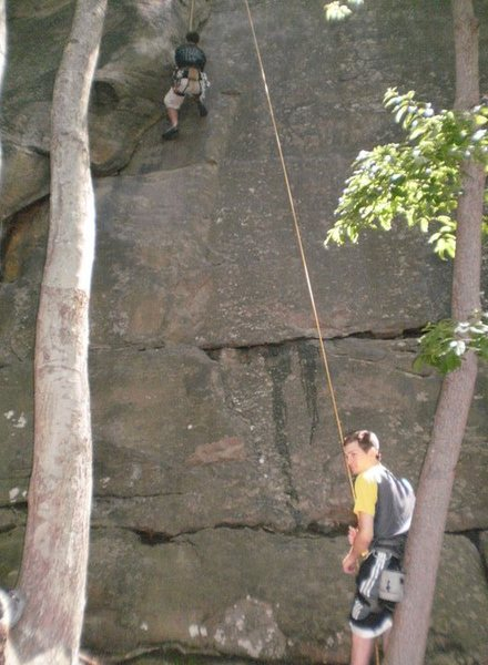 Rock Climbing Photo: Layback 5.9+