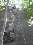 Rock Climbing Photo: Layback 5.9+