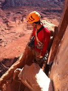 Rock Climbing Photo: half way up Kor Ingalls on a beautiful Feb. aftern...