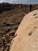 Rock Climbing Photo: The super fun and thankfully fairly cruiser slab a...