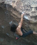 Rock Climbing Photo: Happy Boulders, Bishop Cueball V4