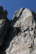 Rock Climbing Photo: Practice Wall  Playground (5.9+) trad  Crowders Mo...