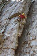 Rock Climbing Photo: Practice Wall  Heady Areteddy (5.9) trad  Crowders...