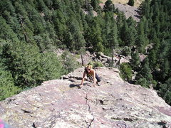Rock Climbing Photo: Climbing on the E Ridge of the Matron.   This part...