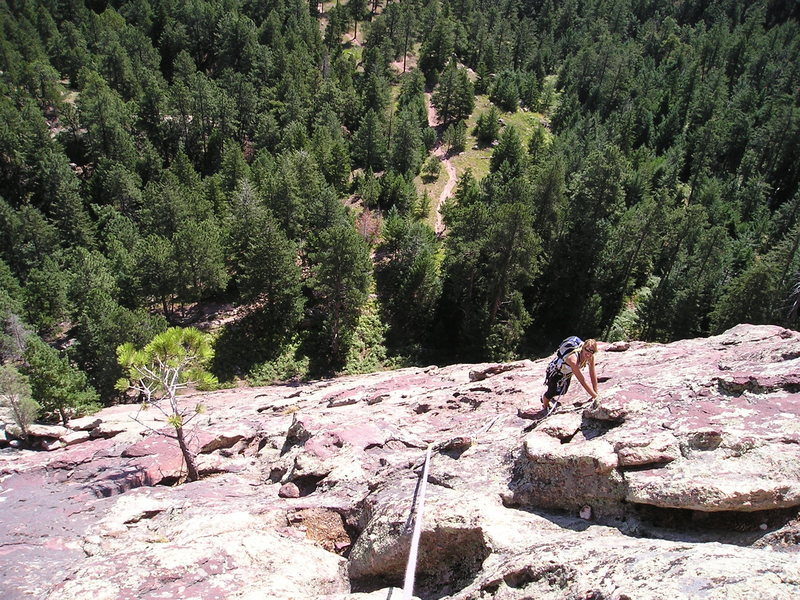 Rock Climbing Photo: Higher up on Bulges, where the rock becomes more f...