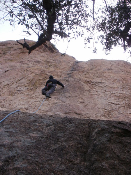 Rock Climbing Photo: Todd K leading BJGS.