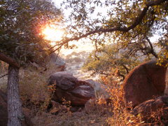 Rock Climbing Photo: Late afternoon at Trad Rock, Cochise Stronghold, A...