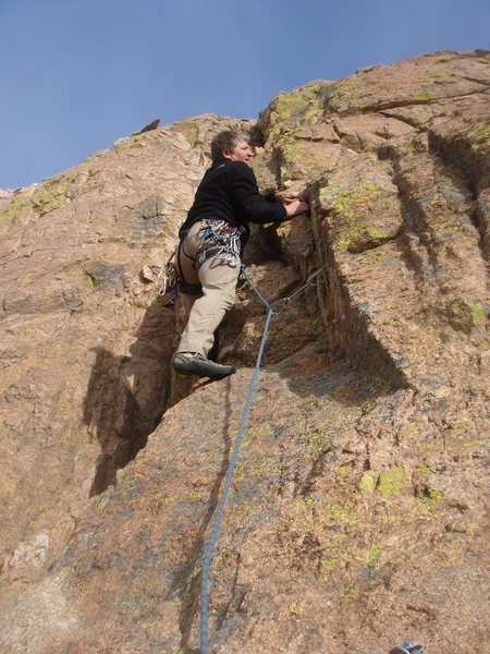 Todd leading the second pitch of Whatchamacallit.