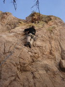 Rock Climbing Photo: Todd starting up Kit Kat.