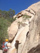 Rock Climbing Photo: Sam and Kelly on pitch 1 of Moby Dick.