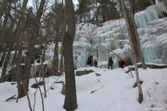 Rock Climbing Photo: Parking Lot Wall, Rumney, NH. Jan 2011