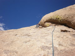 Rock Climbing Photo: Leading pitch 3.  Photo by Todd K.