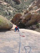 Rock Climbing Photo: Todd coming up pitch 3.