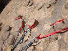 Rock Climbing Photo: Pitch 3 anchor; love those chicken heads!  Photo b...