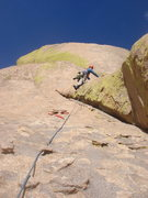 Rock Climbing Photo: Todd leading pitch 4.