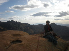 Rock Climbing Photo: Setting to rap from Moby Dick - summit of Whale Do...