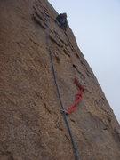 Rock Climbing Photo: Todd leading pitch 2.
