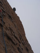 Rock Climbing Photo: One more shot of Todd on pitch 2.