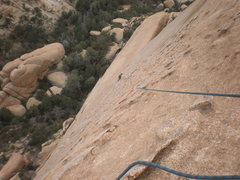 Rock Climbing Photo: Me climbing pitch 2 of What's My Line?  Photo by T...