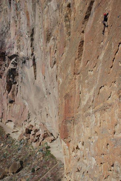 me climbing something. Sort of.