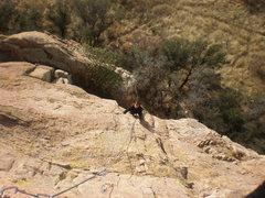 Rock Climbing Photo: Climbing pitch 2 of Whatchamacallit.  Photo by Tod...