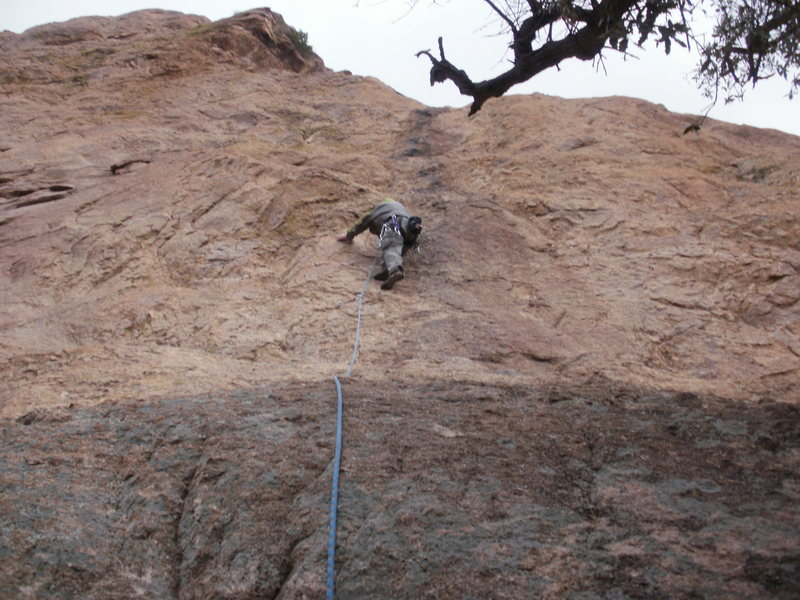 Leading Baby Junior Gets Spanked (5.6) on Trad Rock.<br> <br> Photo by Todd K.