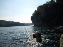 Rock Climbing Photo: Swimming - New River gorge area.  Summer 2011.