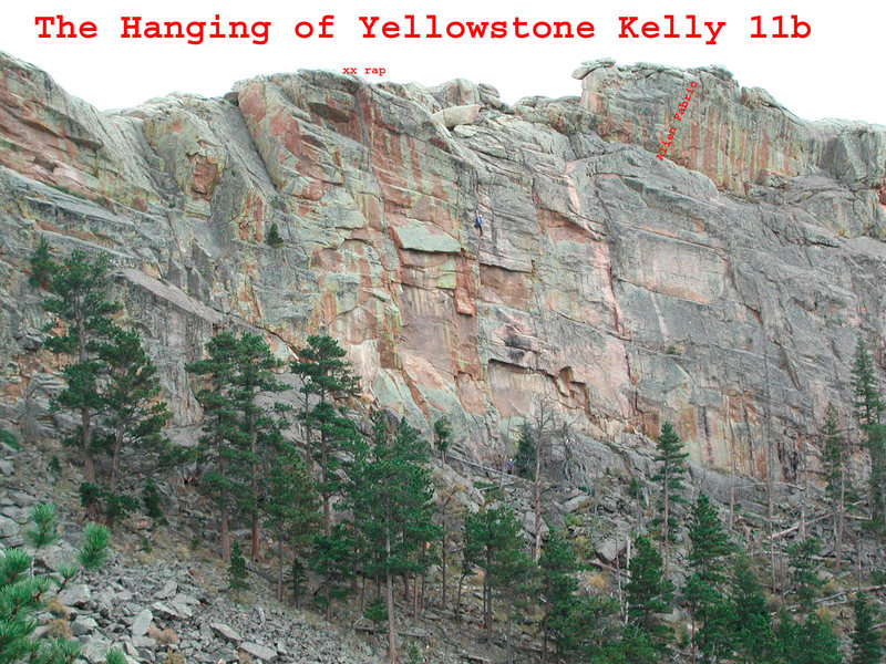 Rock Climbing Photo: Anne Yeagle leads the Hanging of Yellowstone Kelly...