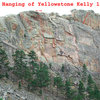 Anne Yeagle leads the Hanging of Yellowstone Kelly 11b.