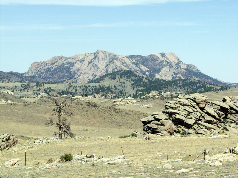 Reese Mtn from SW after 2003 fire.