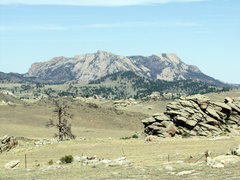 Rock Climbing Photo: Reese Mtn from SW after 2003 fire.