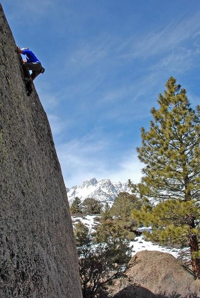 Rock Climbing Photo: Topping out 'Sketch Pad' at Sherman Acres  photo: ...