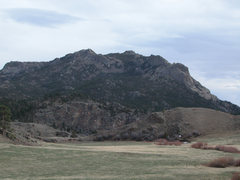 Rock Climbing Photo: The NW corner of Reese Mtn seen from Ashley Creek