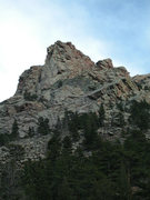 Rock Climbing Photo: The NW Buttress of Reese Mtn from Ashley Creek Can...