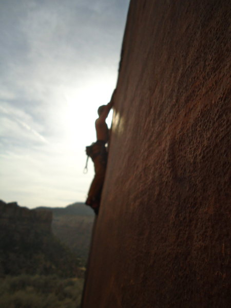 Rock Climbing Photo: Sam F. In the fleeting rays of sunlight on a pleas...