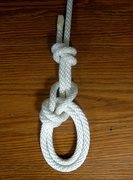 Rock Climbing Photo: re-threaded bowline with finish knot