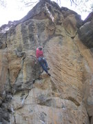 Rock Climbing Photo: Me on my first try up burning bridges 12a