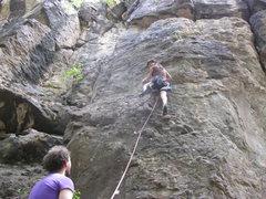 Rock Climbing Photo: Teaching the wife to lead climb