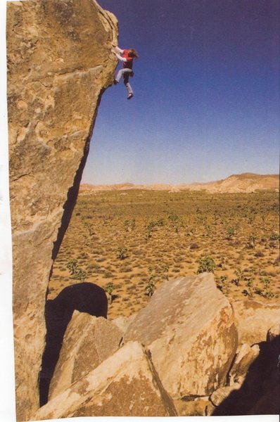 Rock Climbing Photo: Reardon soloing, photo by Damon Corso