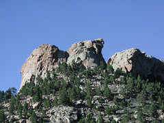 Rock Climbing Photo: Rendezvous Buttress on left side of gully, Tunnel ...