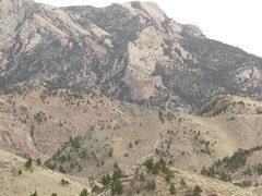 Rock Climbing Photo: Rendezvous Buttress from far SW