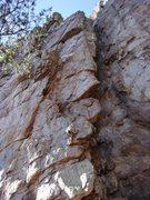 Rock Climbing Photo: Practice Wall  Heady Areteddy(5.9) trad  Crowders ...