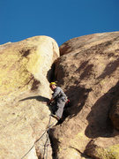 Rock Climbing Photo: Nestor finished with the difficult part of P5.