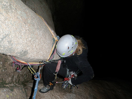 Rock Climbing Photo: Heading down into the abyss...