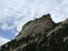 Rock Climbing Photo: Below the NW face of Sherard Tower.