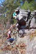 Rock Climbing Photo: Hitting the jug.