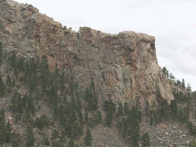Rock Climbing Photo: Hightower from across Ashley Creek